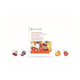 LIVSANE Hroznový cukor s vitamínom C mix príchutí 28 žuvacích tabliet