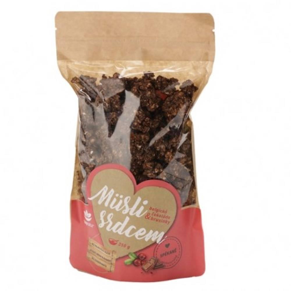 Topnatur TOPNATUR Müslii srdcom Belgická čokoláda & brusnice 350 g