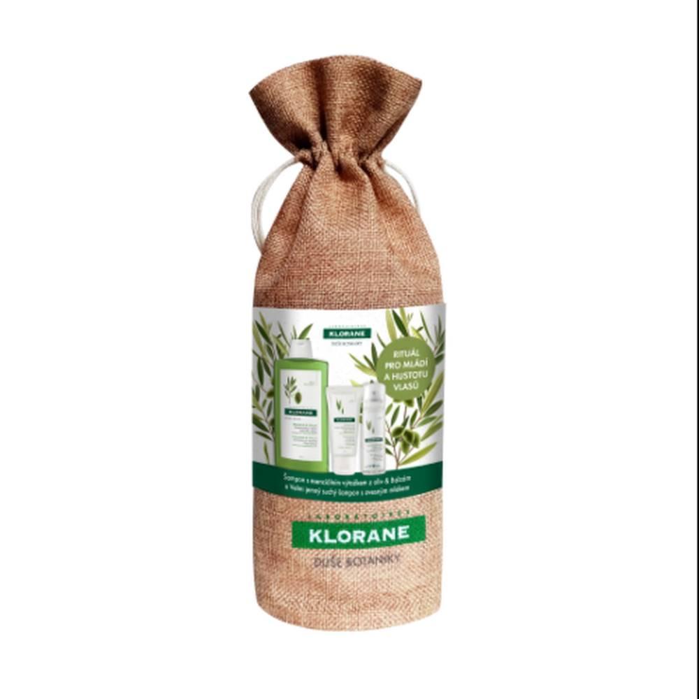 Klorane KLORANE Xmass olivier omladenie a hustota vlasov 400 ml šampón + 200 ml balzam + 50 ml suchý šampón