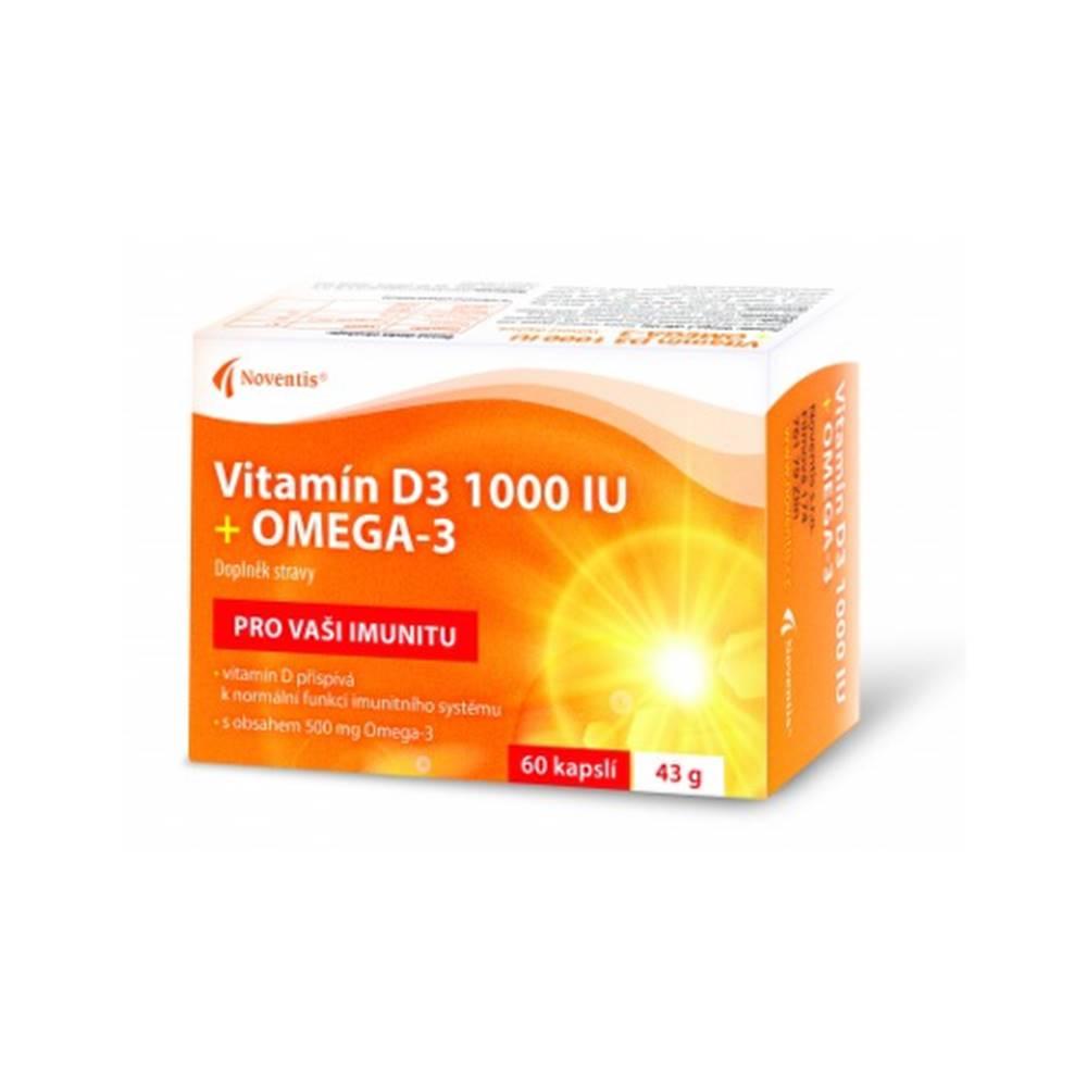 NOVENTIS NOVENTIS Vitamín D3 1000 IU + Omega-3 60 kapsúl