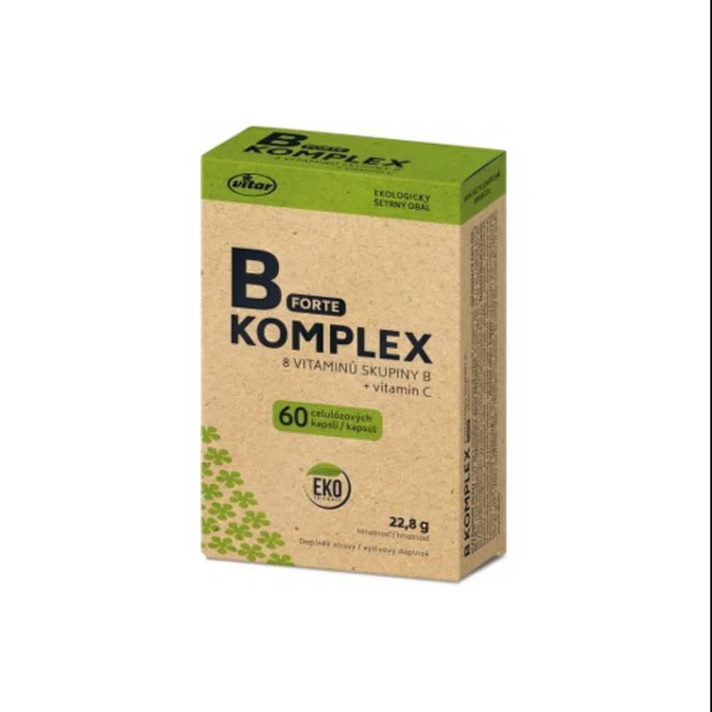 Vitar VITAR B-Komplex forte + vitamín C EKO 60 kapsúl