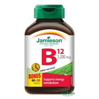 JAMIESON Vitamín B12 s postupným uvoľňovaním 60 + 20 tabliet ZADARMO