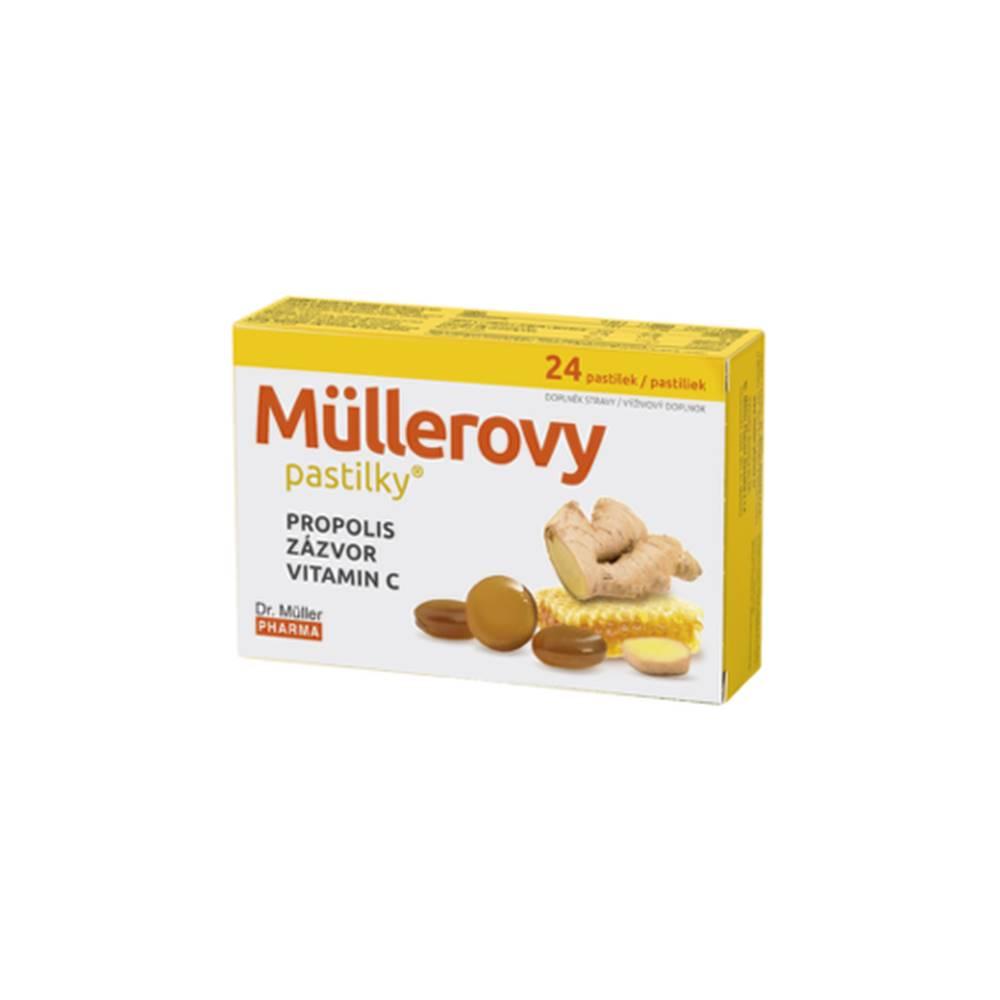 DR. MÜLLER DR. MÜLLER Pastilky propolis, zázvor, vitamín C 24 kusov