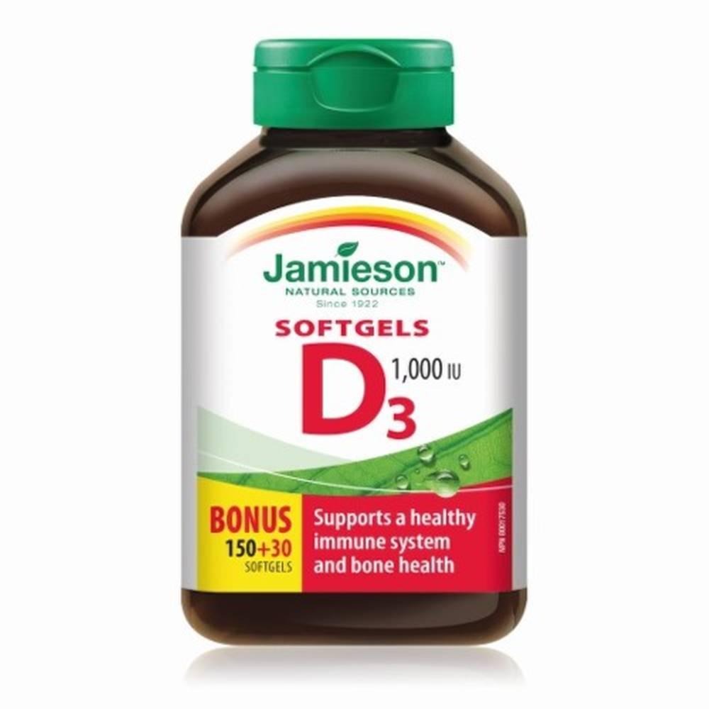 Jamieson JAMIESON Vitamín D3 1000 IU 150 + 30 kapsúl ZADARMO