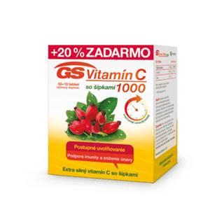 GS Vitamín C 1000 so šípkami 50 + 10 tbl