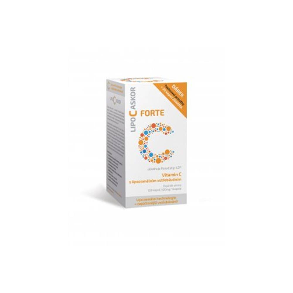 inPHARM spol. s r.o. Lipo C Askor forte 120 cps + darček testovacie prúžky 5ks