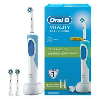 ORAL-B Vitality plus cross action elektrická zubná kefka s 2 čistiacimi hlavicami 1 set