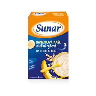 SUNAR Banánová kaša mliečna ryžová na dobrú noc 225 g