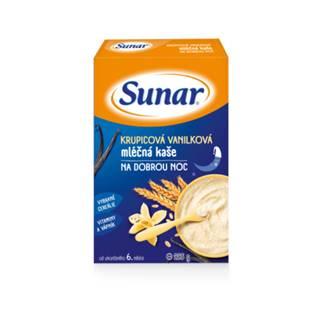 SUNAR Krupicová vanilková kaša mliečna dobrú noc 225 g