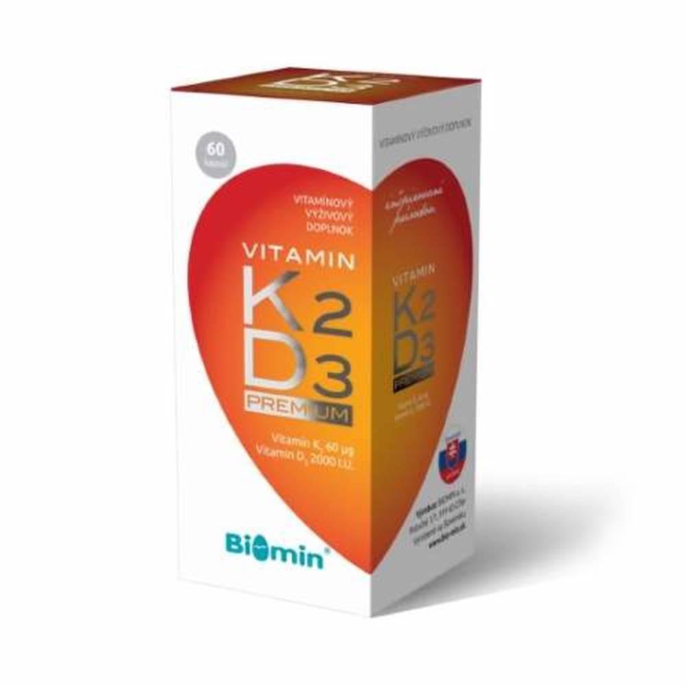 Biomin BIOMIN vitamín K2 + vitamín D3 2000 IU premium 60 kapsúl