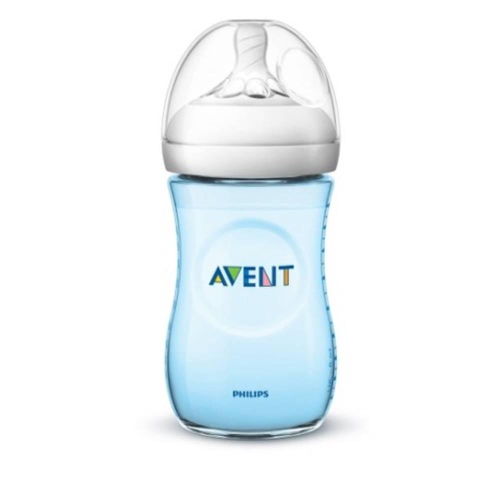 Avent AVENT Fľaša natural PP 260 ml modrá, cumlík ultra soft 1 kus