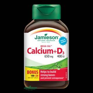 JAMIESON Mega cal vápnik + vitamín D3 100 + 20 tabliet ZADARMO