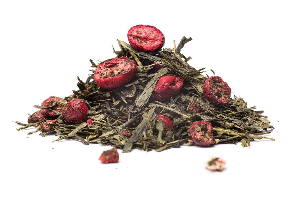 Manu tea SENCHA BRUSNICOVO - JAHODOVÁ  - zelený čaj, 10g