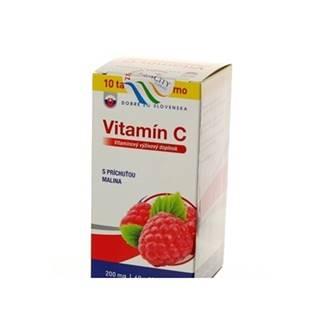 Dobré z SK Vitamín C 200 mg príchuť MALINA tbl 60+10 70 ks