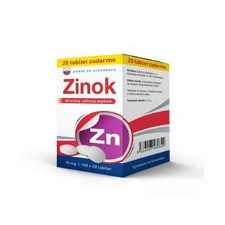 Dobré zo Slovenska Zinok 15 mg tbl 100+20 zadarmo