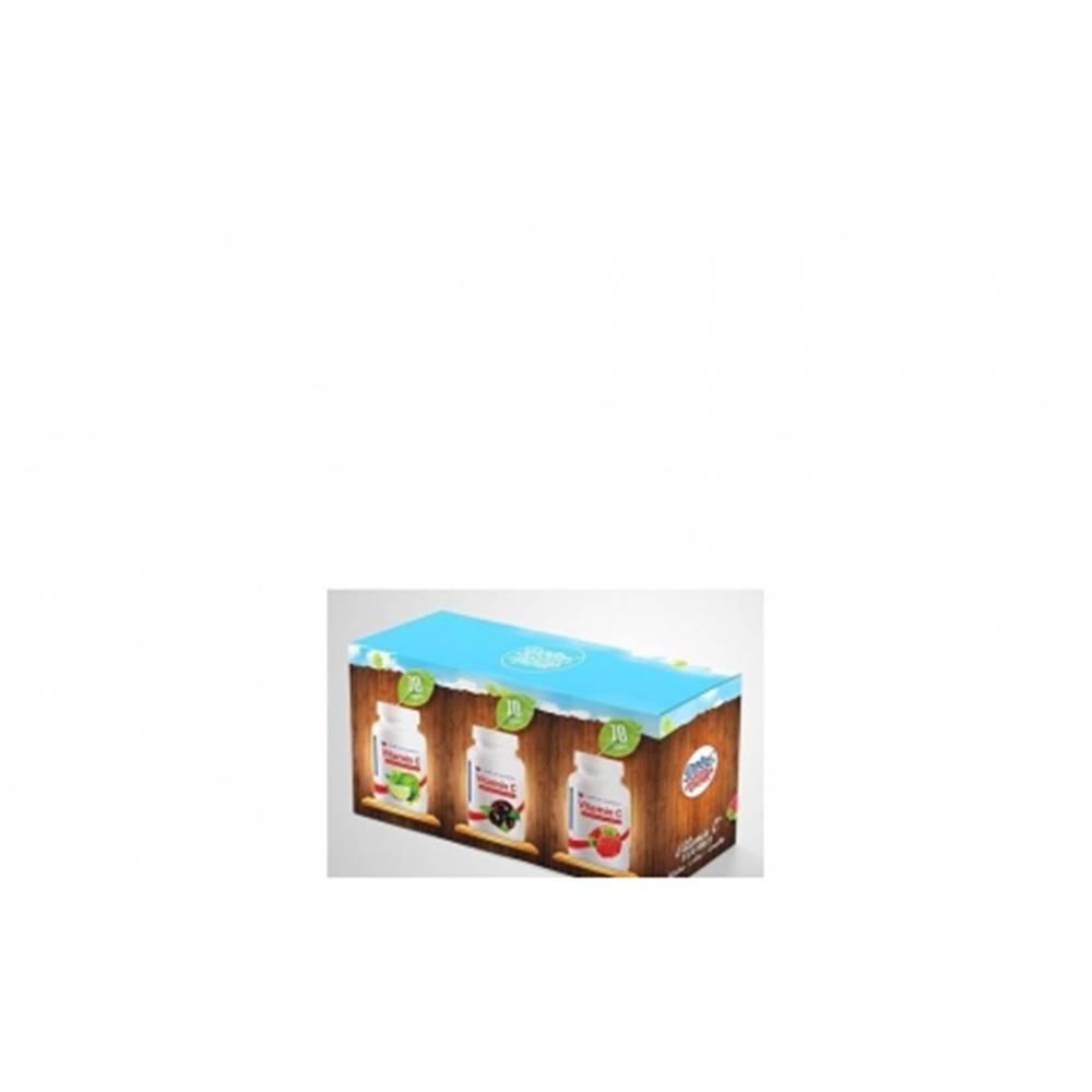 Dobré zo Slovenska Dobré z SK Vitamín C Výhodné balenie tabliet 200 mg malina + acai + limetka 3 x 70 ks 210 ks