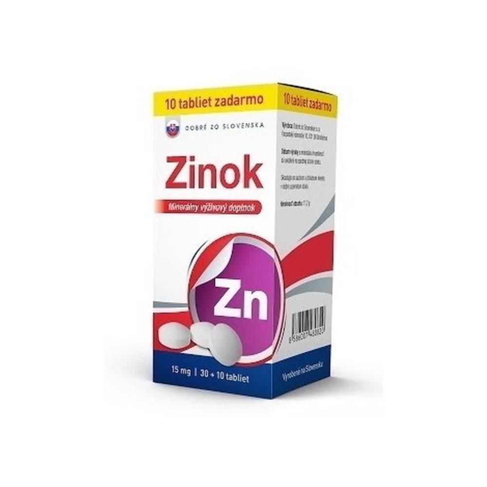 Dobré zo Slovenska Dobré zo Slovenska Zinok 15 mg tbl 30+10 zadarmo