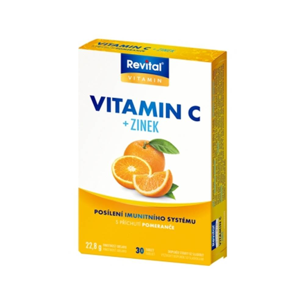 Vitar Revital Vitamín C+ zinok 30 tbl