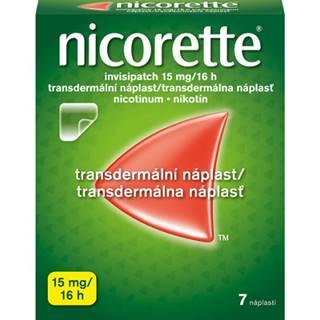 Nicorette invisipatch 15 mg/16h emp.tdm.7 náplastí