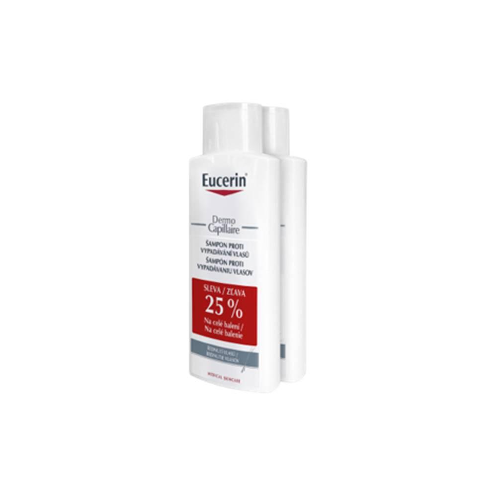 Beiersdorf Eucerin DermoCapillaire šampón proti vypadávaniu vlasov 2 x 250 ml darčeková sada 1/8 Eucerin DermoCapillaire šampón proti vypadávaniu vlasov 2 x 250 ml darčeková sada