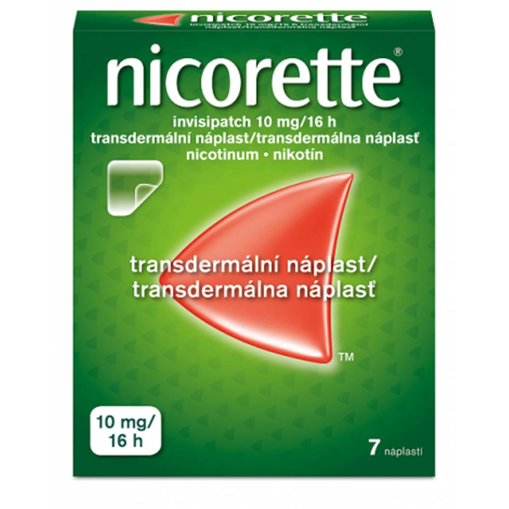 McNeil AB Nicorette Invisipatch 10 mg/16h emp.tdm.7 náplastí