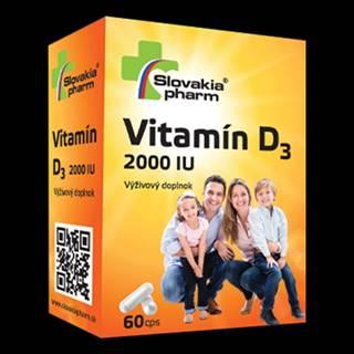 SLOVAKIAPHARM Vitamín D3 2000 IU 60 kapsúl