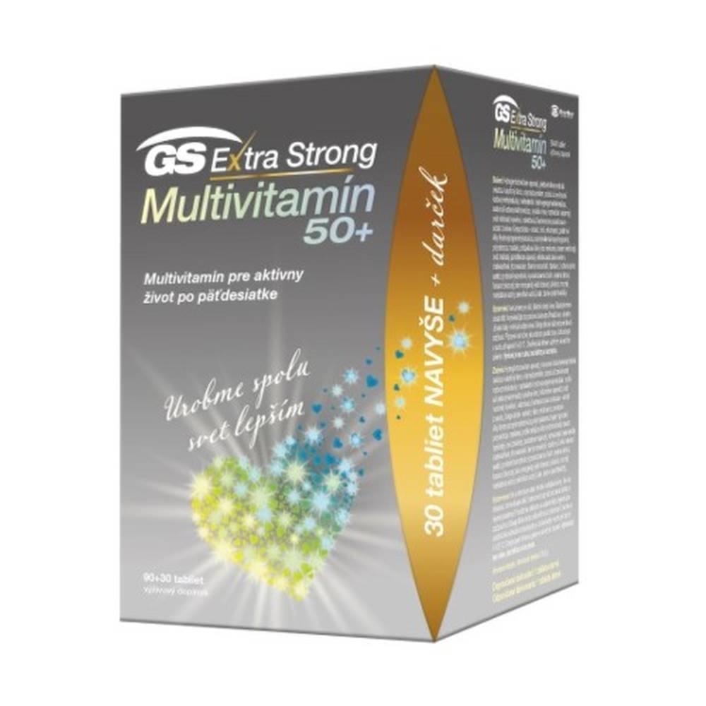 GS GS Extra strong multivitamín 50+ darček 2021 90 + 30 tabliet ZADARMO