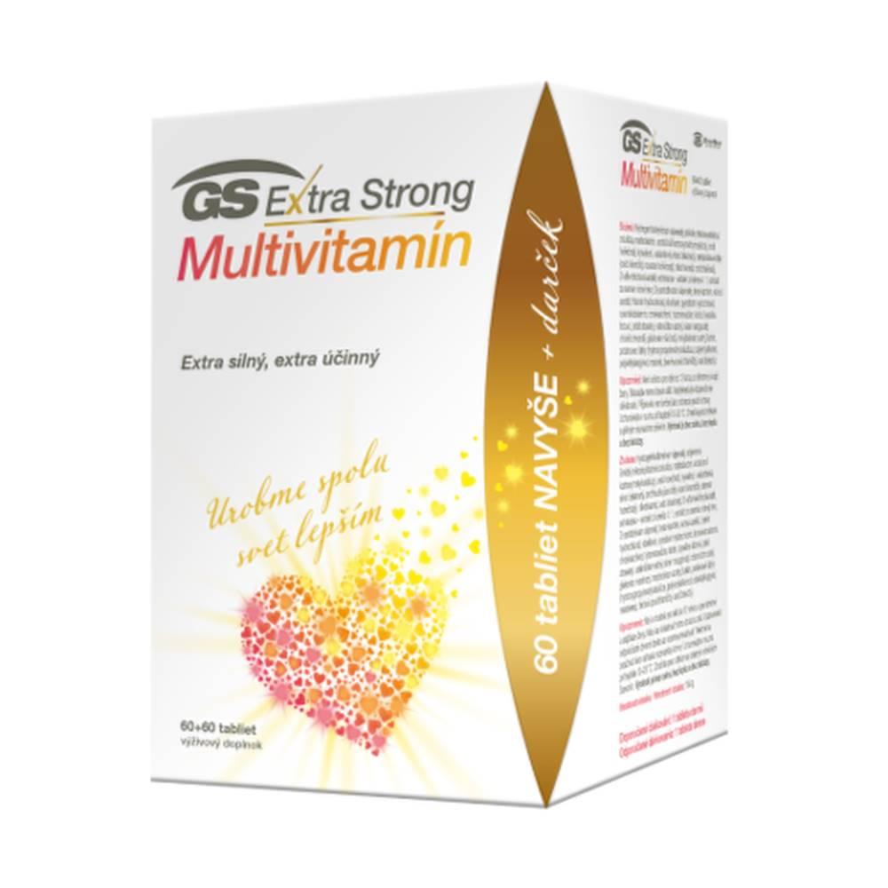 GS GS Extra strong multivitamín 60 + 60 tabliet ZADARMO