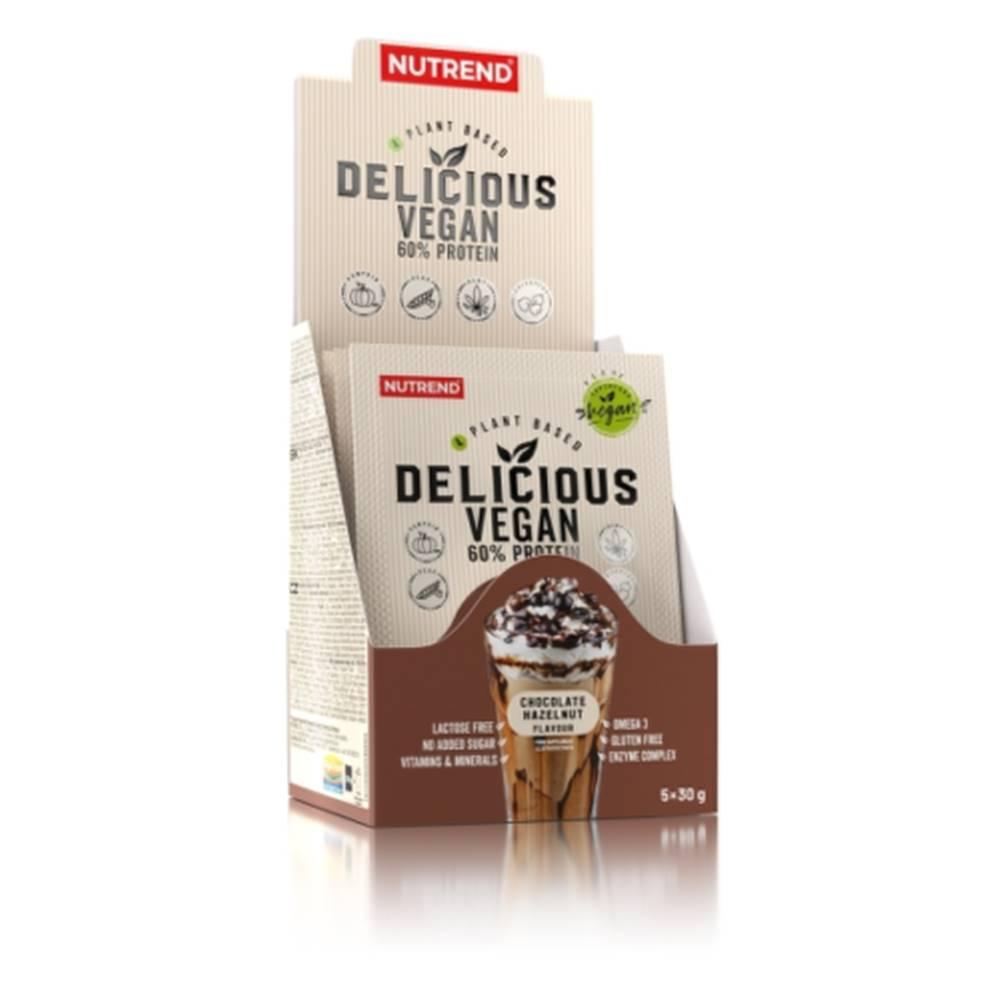 Nutrend NUTREND Delicious vegan protein príchuť čokoláda + lieskový orech 5 x 30 g