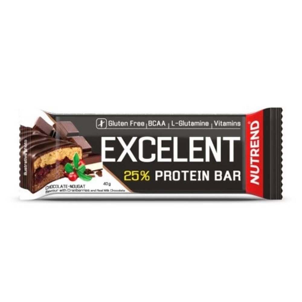 Nutrend NUTREND Excelent protein bar proteínová tyčinka, čokoláda+nugát s brusnicami 85 g