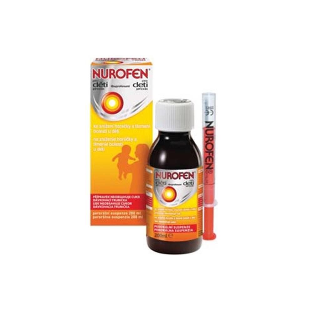 Nurofen pre deti perorálna suspenzia pomaranč 200 ml