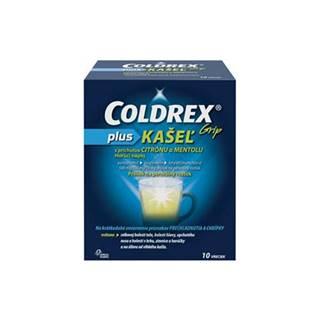 COLDREX Grip plus KAŠEĽ príchuť citrón a mentol 10 vreciek