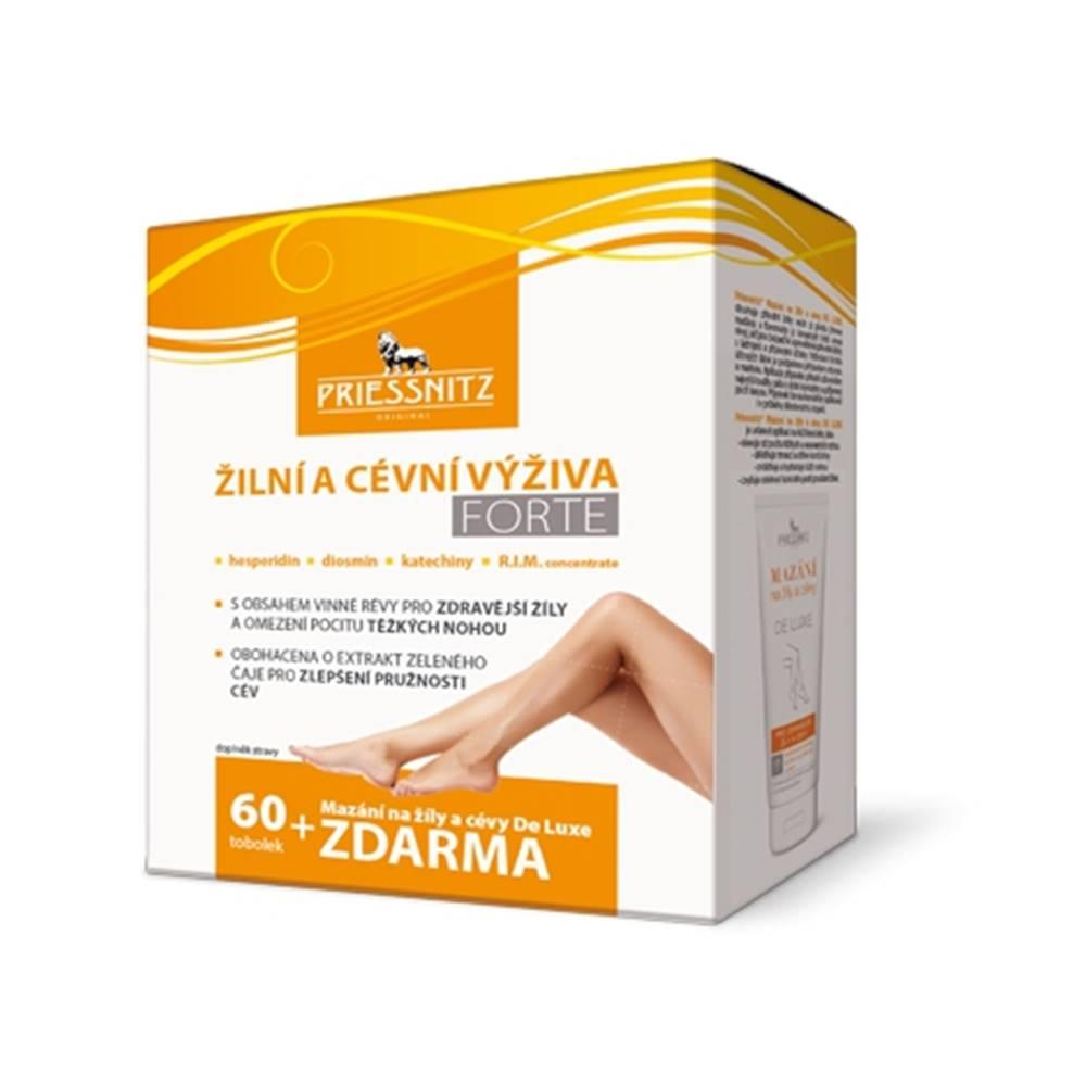 Priessnitz Žilová a cievna výživa Forte 60 tbl + Priessnitz Gél na žily a cievy De luxe 125 ml ZDARMA