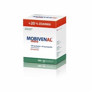 Mobivenal Micro 100 + 20 tbl DVOJBALENIE 240tbl