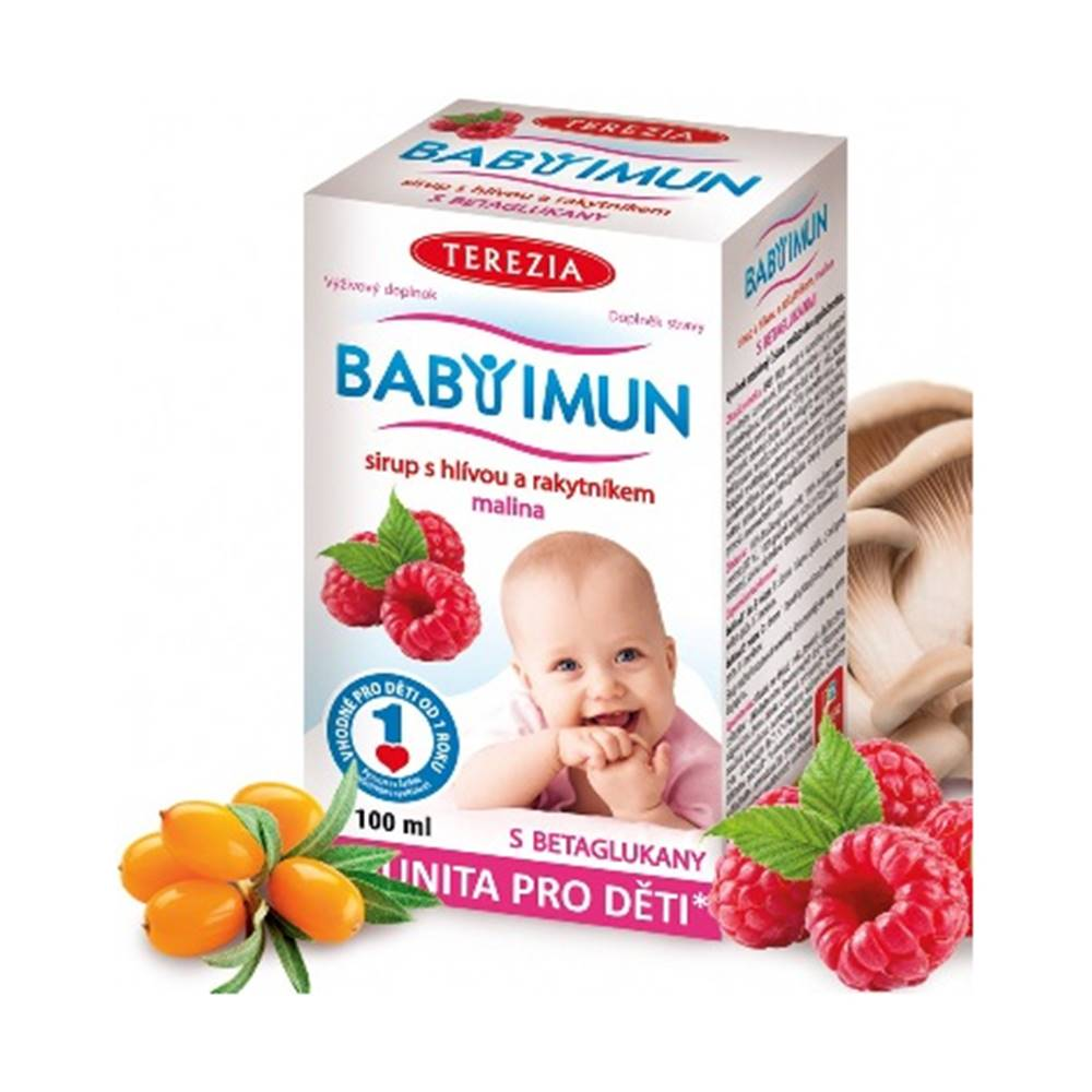 Terezia Babyimun sirup s hlivou a rakytníkom malina 100 ml