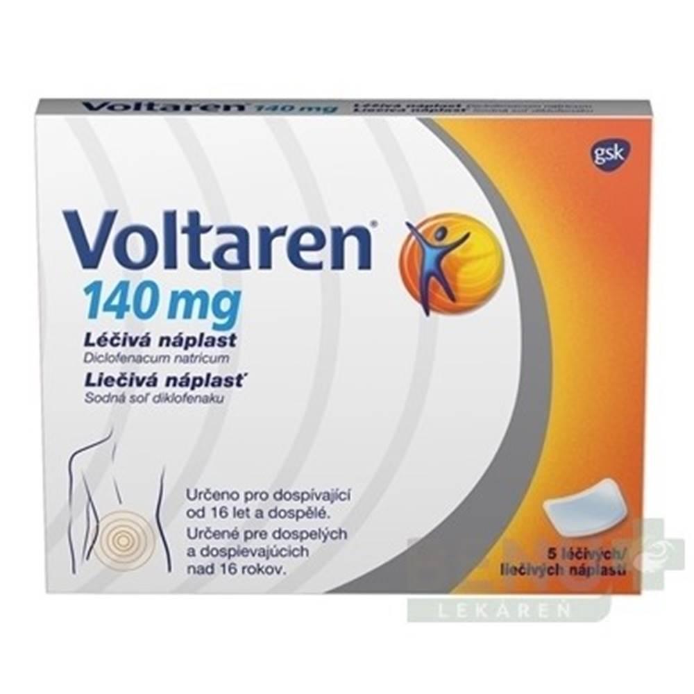 Voltaren VOLTAREN 140 mg liečivá náplasť 5 kusov