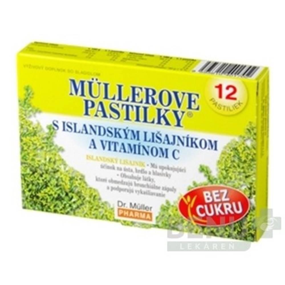 DR. MÜLLER MÜLLEROVE PASTILKY s islandským lišajníkom a vitamínom C bez cukru 12 kusov