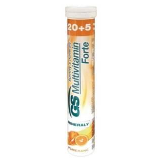 GS Multivitamín forte šumivý s minerálmi pomaranč 20 + 5  tabliet zadarmo