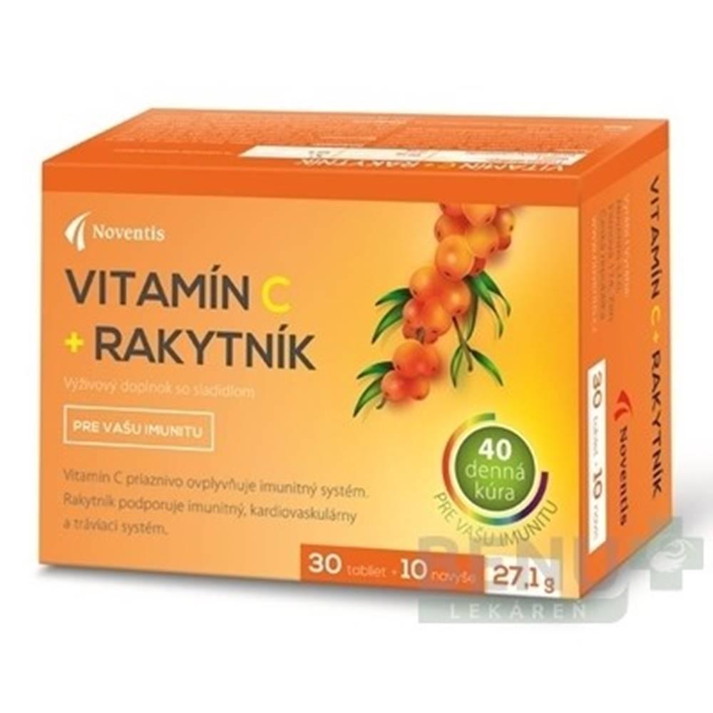 NOVENTIS NOVENTIS  Vitamín C + rakytník 40 tabliet