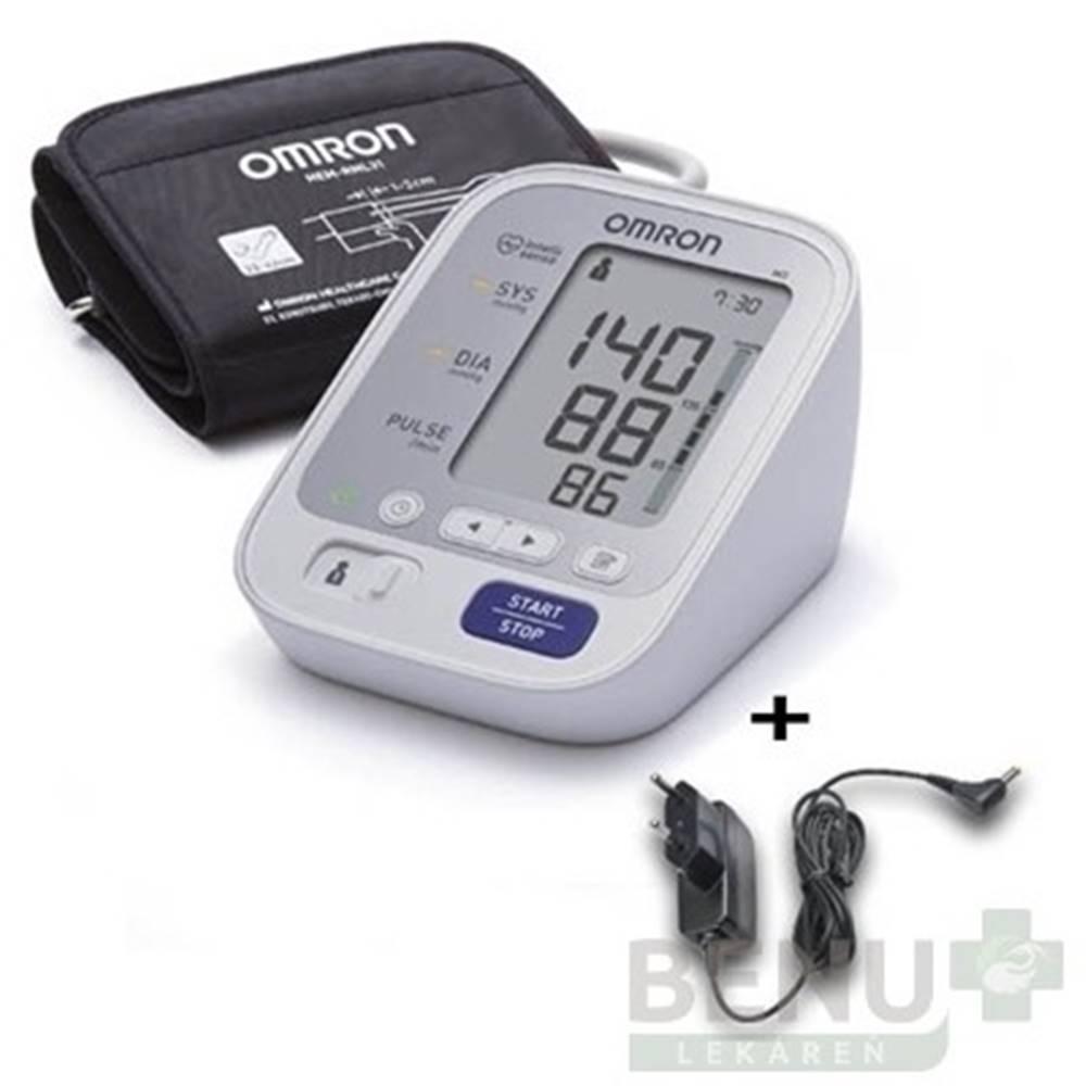 Omron OMRON M3 Digitálny tlakomer automatický + sieťový zdroj 1 ks
