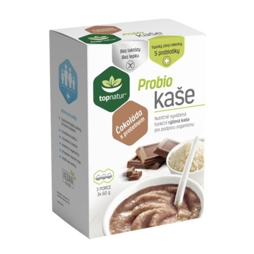 Topnatur TOPNATUR Probio kaša čokoláda s proteínom 3 x 60 g