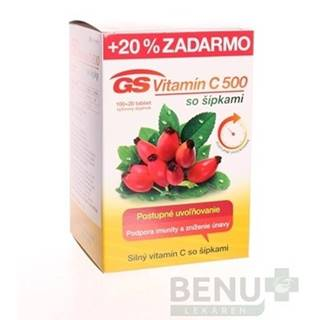 GS Vitamín C 500 so šípkami 100 + 20 tabliet ZADARMO
