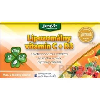 JUTAVIT Lipozomálny vitamín C + D3 60 kapsúl