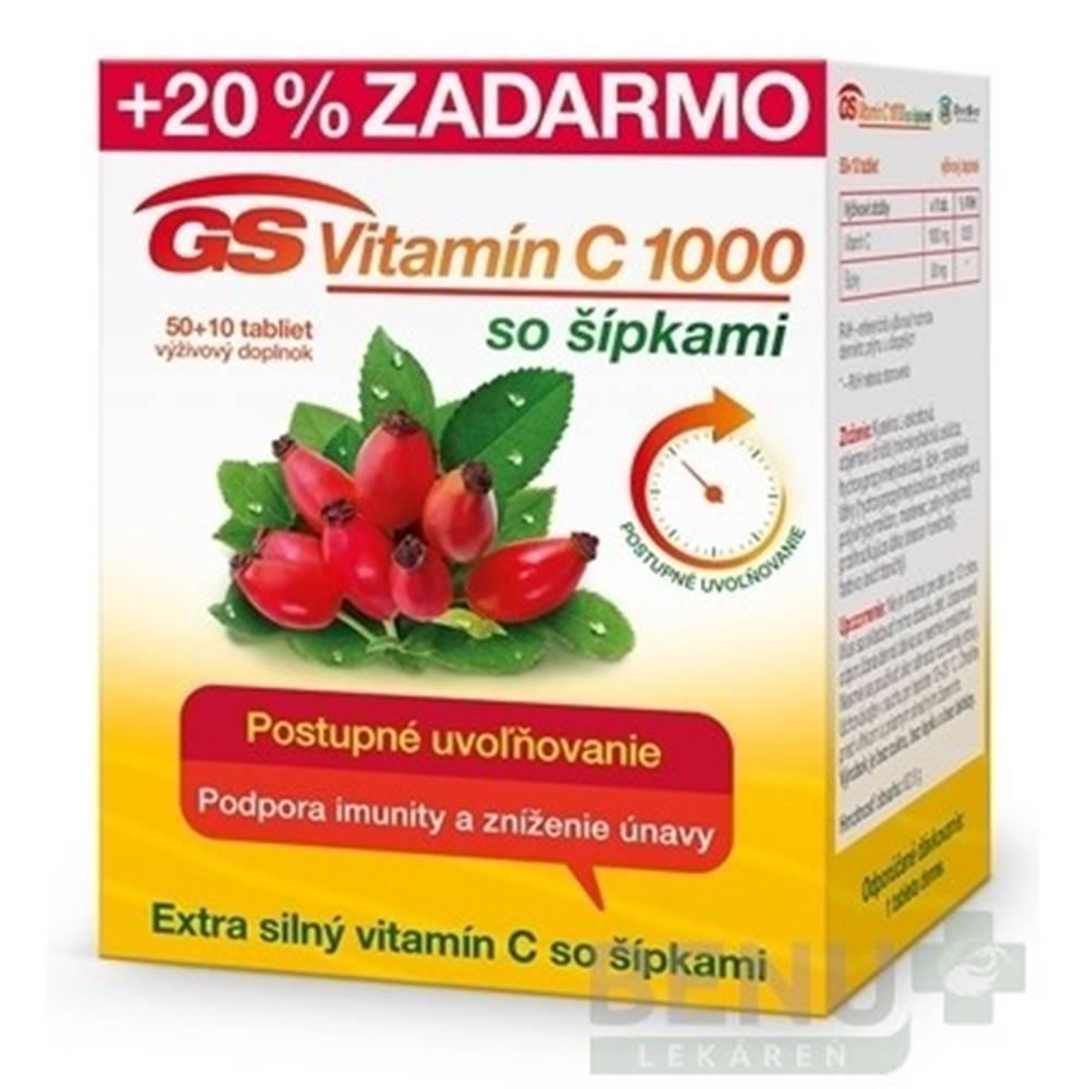 Green swan GS Vitamín C 1000 so šípkami 50 + 10 tabliet ZADARMO
