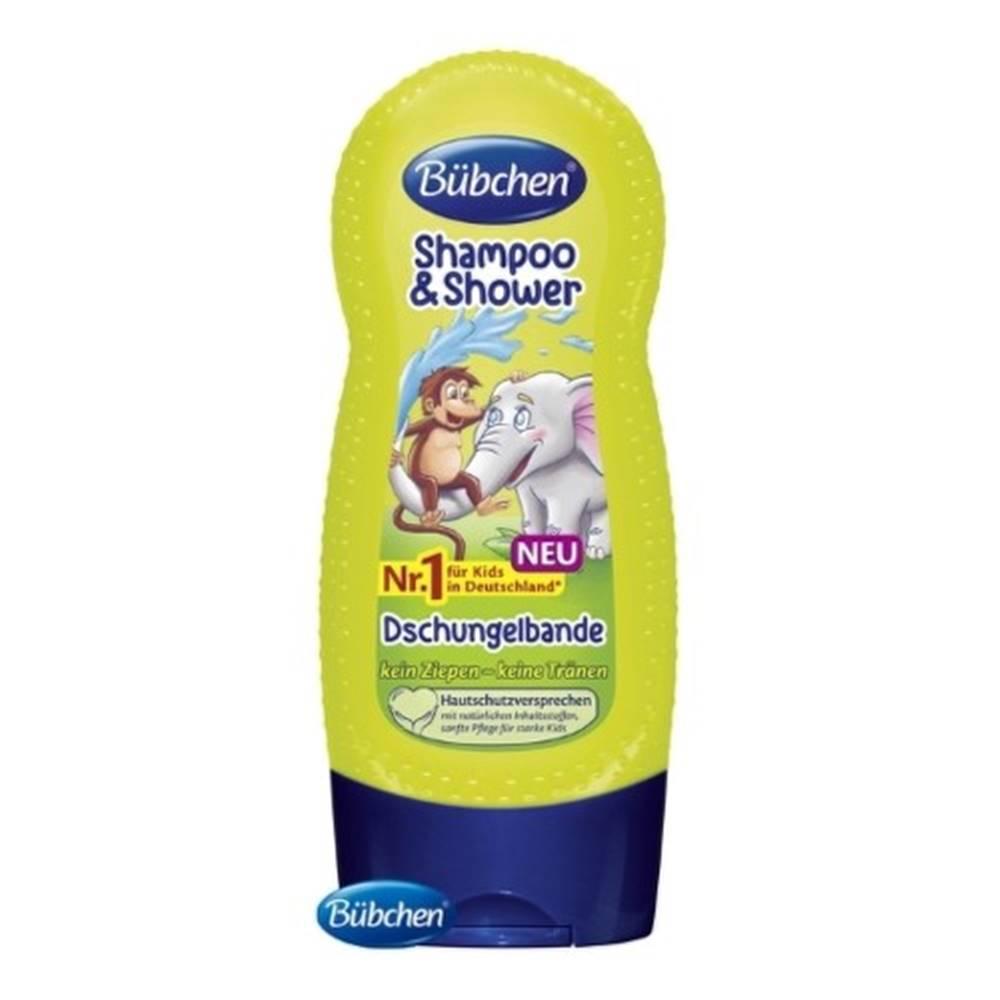 BÜBCHEN BÜBCHEN Kids šampón a sprchový gél 2v1 partička z džungle 230 ml