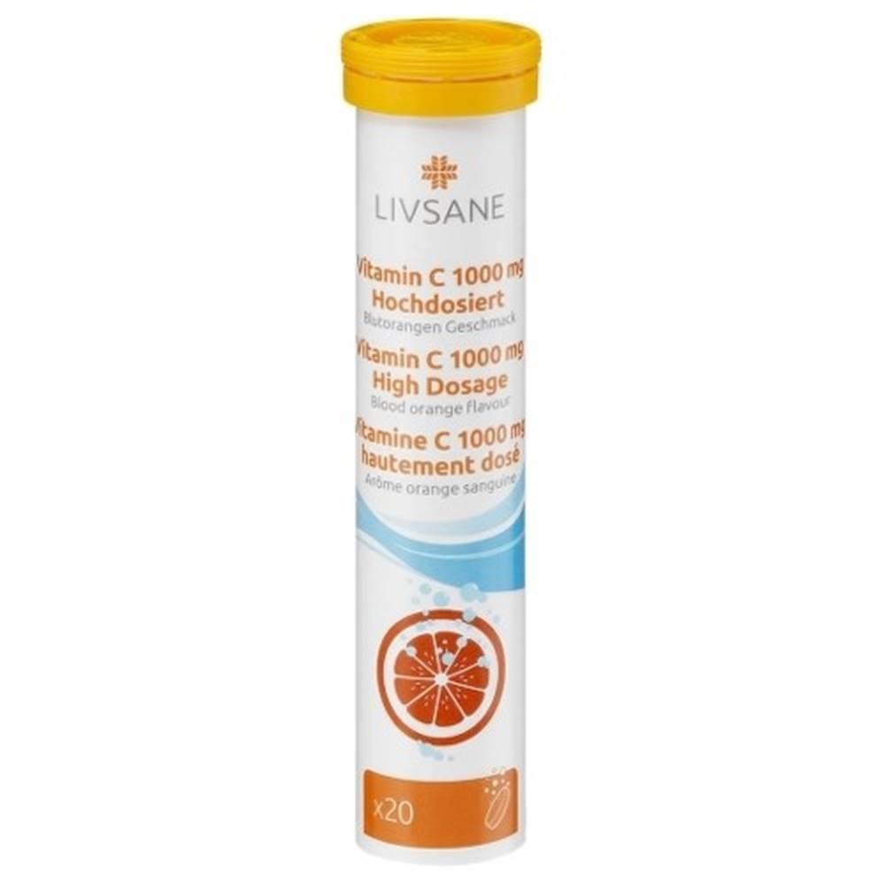 LIVSANE LIVSANE Vitamín C 1000 mg vysoká dávka 20 šumivých tabliet