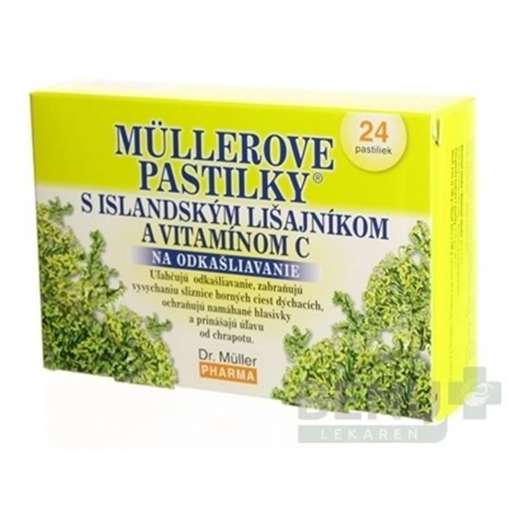 DR. MÜLLER MÜLLEROVE PASTILKY s islandským lišajníkom a vitamínom C 24 kusov