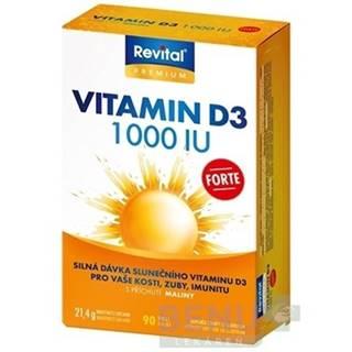 REVITAL Vitamín D3  forte 1 000 IU 90 tabliet