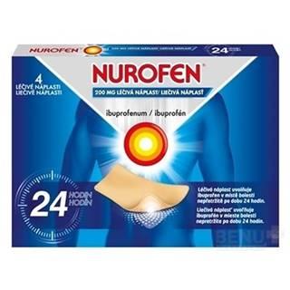 NUROFEN 200 mg liečivá náplasť 4 kusy