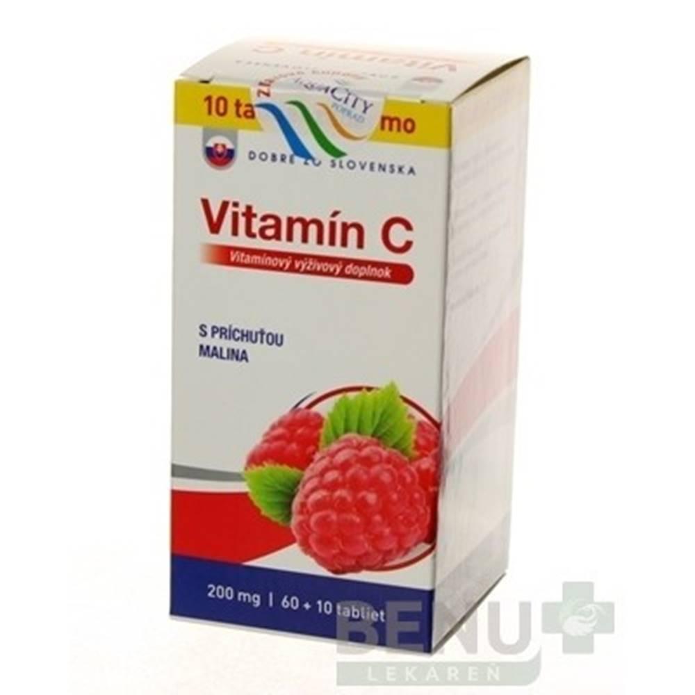 Dobré z SK DOBRÉ Z SK Vitamín C 200 mg príchuť malina 60 + 10 tabliet ZADARMO